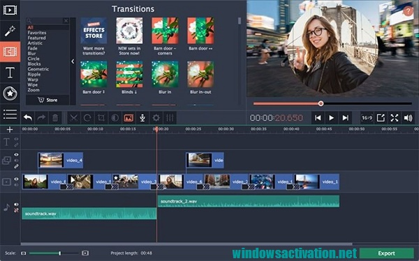 Movavi Video Editor 20.4.0 Crack With Activation Key Free Download