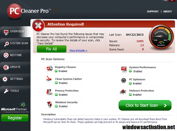PC Cleaner Pro 2020 Crack With License Key Free Download (2020)